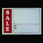 "Collier Metal Specialties, Inc. - VSCH54 - 5"" x 4"" Sale Card"