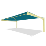 Landscape Structures, Inc. - SkyWays® Cantilever 20'x36' Shade