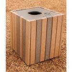 Landscape Structures, Inc. - Wood-Grain Litter Receptacle