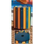 Landscape Structures, Inc. - Kaleidoscope Recycling Receptacle