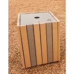 Landscape Structures, Inc. - Wood-Grain Recycling Receptacle