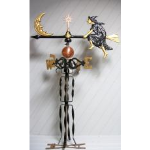 Robbins Lightning, Inc. - 573 - Witch on a Broom Weather Vane