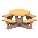 Petersen Precast Site Furnishings - Octagon Table