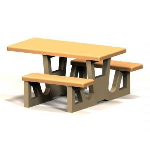 Petersen Precast Site Furnishings - RT Series Handicap Table