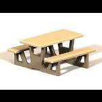 Petersen Precast Site Furnishings - Square RT Series Table
