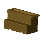 Petersen Precast Site Furnishings - Aurora Series Planter Bench