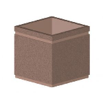 Petersen Precast Site Furnishings - P Series Square Planter