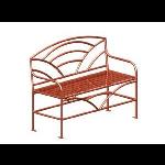Petersen Precast Site Furnishings - Breckenridge Series - BRK72 Metal Bench