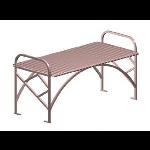 Petersen Precast Site Furnishings - Novak Series - NVFB48 Metal Bench