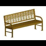 Petersen Precast Site Furnishings - Spencer Series Metal Bench