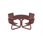 Petersen Precast Site Furnishings - LTRND Round Table