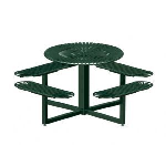 Petersen Precast Site Furnishings - Sunrise Series Metal Table