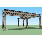 Icon Shelter Systems Inc - Arbor (Straight) Shelter FAR24KZ-P0-60-90-150
