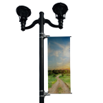 BannerSaver - BannerSaver™ - Light Pole Banner Bracket - Extra Large Kit for Banners 23 to 30 Sq. Ft.