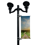 BannerSaver - BannerSaver™ - Light Pole Banner Bracket - Large Kit for Banners 20 to 23 Sq. Ft.
