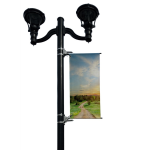 BannerSaver - BannerSaver™ - Light Pole Banner Bracket - Medium Kit for Banners 17.5 to 20 Sq. Ft.