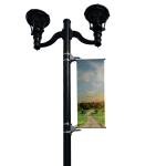 BannerSaver - BannerSaver™ - Light Pole Banner Bracket - Small Kit for Banners Less Than 175 Sq. Ft.