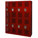 List Industries Inc. - Jr. Varsity Double Tier Athletic Lockers