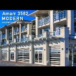Amarr Garage Doors - Amarr 3582 Aluminum MultiView Sectional Door