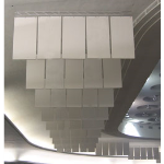 Acoustical Surfaces, Inc. - Hanging Acoustical Baffles - Recycled Cotton