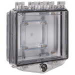 Safety Technology International, Inc. - Polycarbonate Enclosure with Enclosed Back Box & Double-Gang Elecrical Box and Exterior Key Lock - S