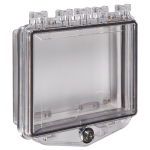 Safety Technology International, Inc. - Polycarbonate Enclosure with Enclosed Back Box and Exterior Key Lock - STI-7510F