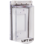 Safety Technology International, Inc. - Bopper Stopper® with Spring Loaded Hinge - Clear - STI-6518