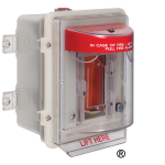 """Safety Technology International, Inc. - Stopper II® Heated Enclosure with 4"""" Deep Back Box, Fire Label - STI-1200A-HTR240"""