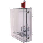 Safety Technology International, Inc. - Protective Cabinet with Siren/Strobe Alarm, Key Lock - STI-7554