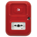 Safety Technology International, Inc. - Alert Point, stand alone alarm system, red with house/flame symbol - AP-1-R-A
