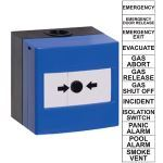 Safety Technology International, Inc. - Waterproof ReSet Call Point - Blue, Series 11 - WRP2-B-11