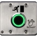 Safety Technology International, Inc. - NoTouch® Stainless Steel IR Switch, US Double-Gang, Door Symbol - NT-SS200-EN
