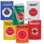 Safety Technology International, Inc. - Stopper® Station with Shield Key-to-Reset Blue LOCKDOWN - SS2422LD-EN