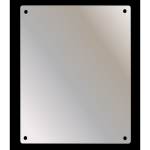 Ketcham - SSF-1836 Wall Mount Stainless Steel Mirror