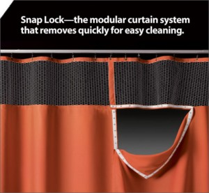 Snap-Lock Cubicle Curtains