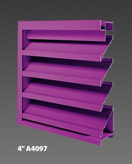 "4"" A4097 Drainable Louver"