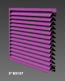 "5"" B5157 Drainable Louver"