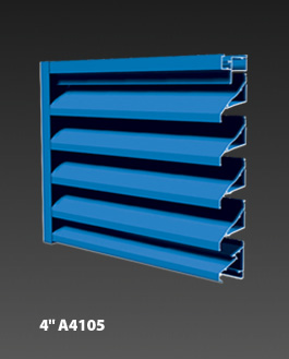 "4"" A4105 Non-Drainable Louvers"