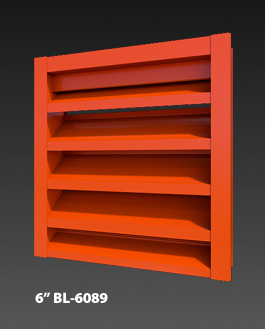 "6"" BL-6089 Non-Drainable Louvers"