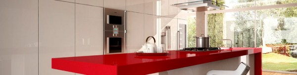 3452 Red Shimmer - Classico Collection Quartz Surfaces