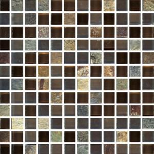 Mosaic Glass Brazilian Salvador Square Terrazzo
