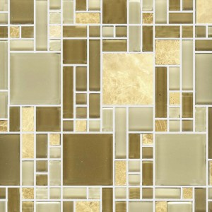 Mosaic Glass - Geo Marble Glass
