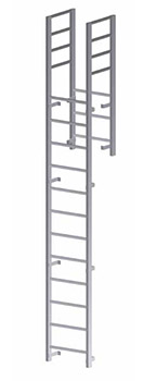Parapet Access with Return Vertical Ladder - U202