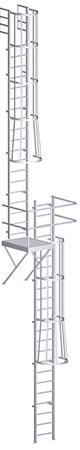 Roof Access Ladder with Intermediate Platform – U-390