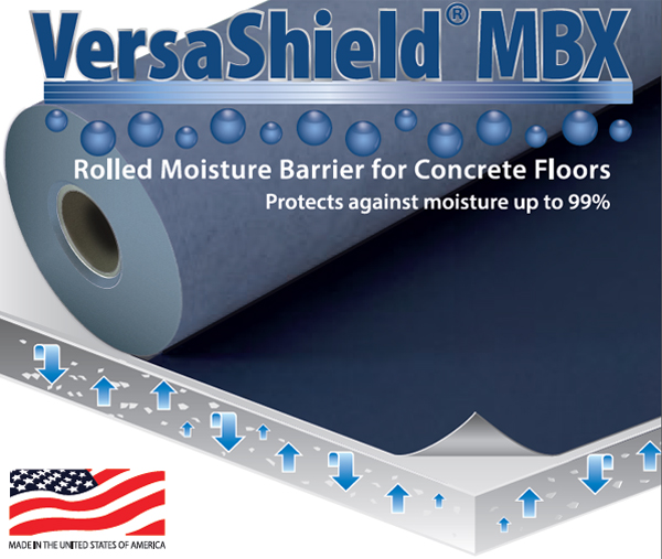 VersaShield® MBX Moisture Suppression Flooring Underlayment