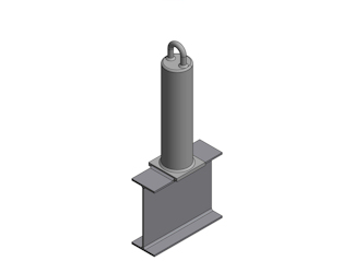 Weldable Roof Anchor with Base Plate - Weldable Roof Anchor with Base Plate