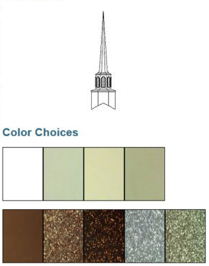 Model: Comb 11Fiberglass Church Steeple - 31 ft