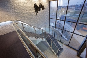 panelgrip  dry glazed glass railing system   wagner  sweets