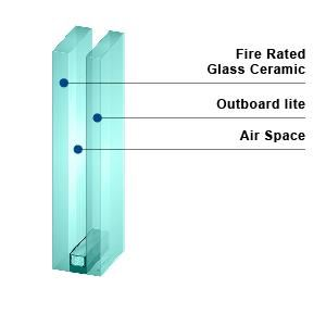 KERALITE FILMED 180 IGU - Fire Rated Insulated Glass Unit