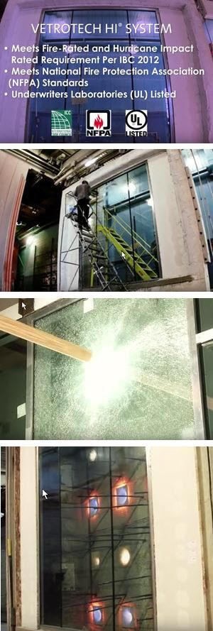 Vetrotech HI-System® - Fire Rated & Hurricane Impact Resistant Glazing